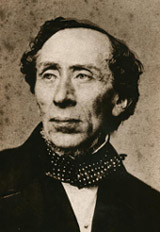 Photograph of Hans Christian Andersen taken by Franz Hanfstaengl in Munich, Germany, on july 10 1860